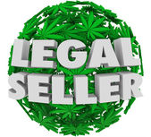 Legal Seller 3d words on a ball — Stock Photo