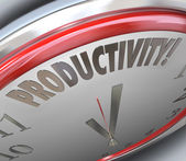 Productivity word on a clock — Stock fotografie