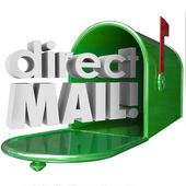 Direct Mail words in 3d letters — Stock Photo