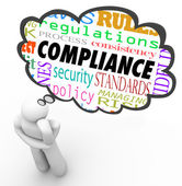 Compliance and related words in a thought cloud — Stock Photo