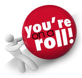 You're On a Roll words — Stock Photo