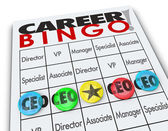 Career Bingo card or game board — Stock Photo