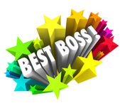 Best Boss words surrounded by colorful fireworks — Stock Photo