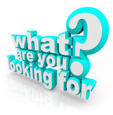 What Are You Looking For question — Foto de Stock