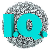 IQ letters on a ball or sphere — Stock Photo
