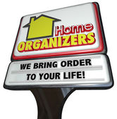 Home Organizers word on a sign — Foto Stock