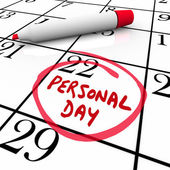 Personal Day circled on a calendar — Stock Photo