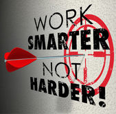 Work Smarter Not Harder words — Stock Photo