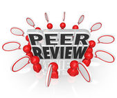 Peer Review words surrounded by people — Stock Photo