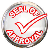 Seal of Approval words on stamp — Stockfoto