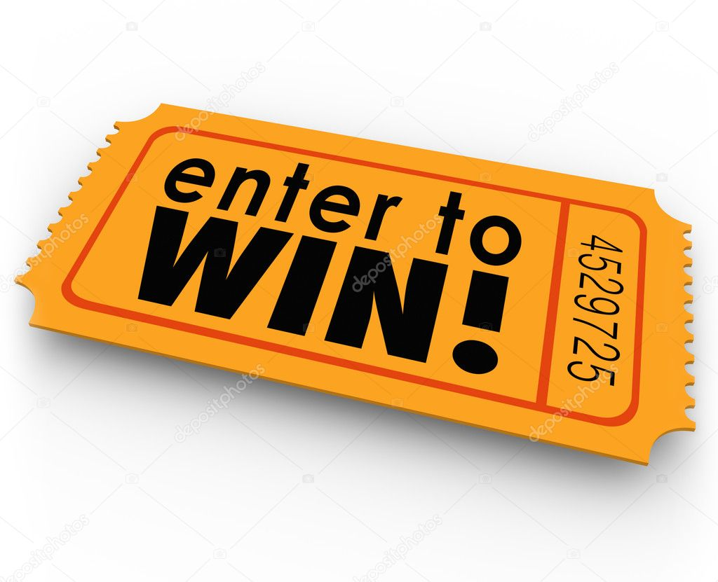 enter to win raffle ticket winner lottery jackpot stock photo enter to win words on an orange ticket for a raffle or jackpt drawing where you could get lucky and be the winner of cash or other big valuable prizes
