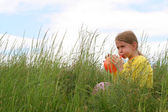 Joy on meadow — Stock Photo