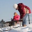 Stock Photo: Sledding