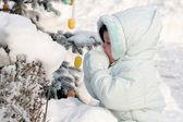 On the snow — Stock Photo