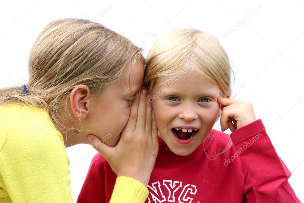 One girl giving the other an earful — Stock Photo #14018120
