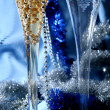 Blue celebration - Stock Photo