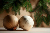 Golden christmas — Stock Photo