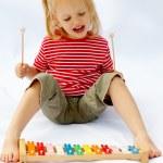 Rainbow xylophone — Stock Photo
