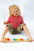 Rainbow xylophone — Stock Photo
