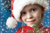 Christmas portraits — Stock Photo