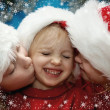 Christmas portraits — Stock Photo
