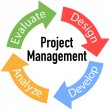 Project Management Business Arrows Cycle — Image vectorielle