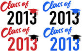 Class of 2013 school graduation date cap — Stock Vector