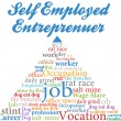 Self employed entrepreneur job occupation - Stockvektor