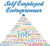 Self employed entrepreneur job occupation — Stock Vector