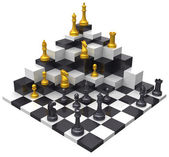 Chess game win 3D challenge — Stock Photo
