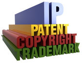 IP Patent Copyright Trademark words — Stock Photo