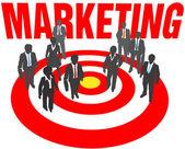Business team target marketing — Stock Vector