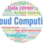 Cloud Computing tech word cloud tags — Stock Vector