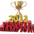 Sports trophy win 2013 playoff champions — Stock Photo