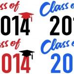 Class of 2014 school graduation date — Stock Vector #25592917