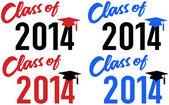 Class of 2014 school graduation date — Stock Vector