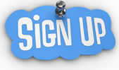 Sign Up website pin label icon — Stock Photo