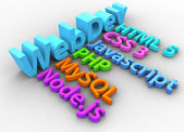 Web development tools for HTML site — Stock Photo