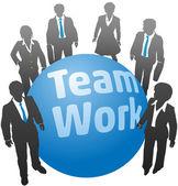 Business people team work ball — Stock vektor