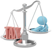 Tax payer person hurt by heavy Taxes — Stock Photo