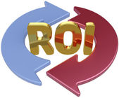 ROI Return On Investment arrows — Stock Photo