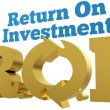 Big gold ROI Return On Investment words — Stock Photo