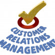 CRM check Customer Relations Management — Stok fotoğraf