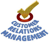 CRM check Customer Relations Management — Stock Photo