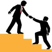 Деловые люди помочь подняться успех — Cтоковый вектор