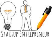 Entrepreneur startup business model — Stock Vector