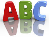 ABC font alphabet education letters — Stock Photo