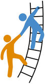People helping join up ladder — Stock Vector
