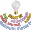 Start up entrepreneur light bulb — Stock Photo