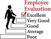 Empleados de negocios mejorar la evaluación — Vector de stock